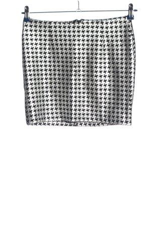 Ann Christine Minirock weiß-schwarz abstraktes Muster Casual-Look