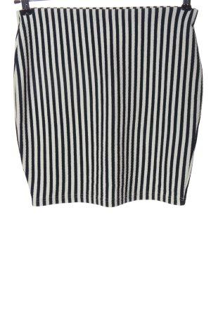 Ann Christine Miniskirt black-white striped pattern casual look