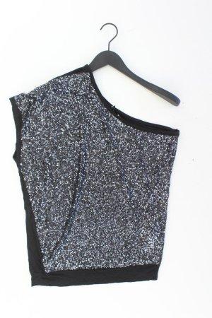Ann Christine One Shoulder Shirt mit Pailletten Größe XL Kurzarm schwarz aus Viskose