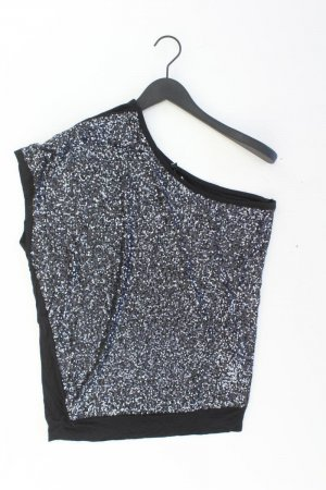 Ann Christine One Shoulder Shirt mit Pailletten schwarz Größe XL