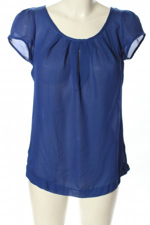 Ann Christine Slip-over blouse blauw casual uitstraling