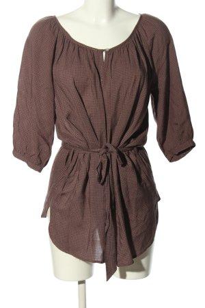 Ann Christine Slip-over blouse bruin-zwart volledige print casual uitstraling