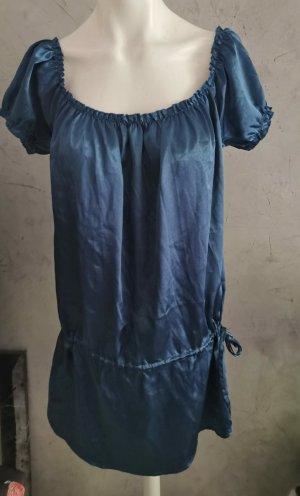Ann Christine Shortsleeve Dress blue-dark blue
