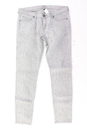 Ann Christine Skinny Jeans Größe 40 mit Tierdruck grau