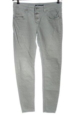 Ann Christine Slim Jeans light grey casual look