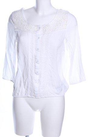 Ann Christine Kanten blouse wit casual uitstraling