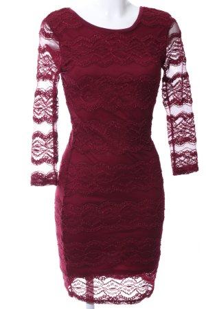 Ann Christine Kanten jurk rood zakelijke stijl