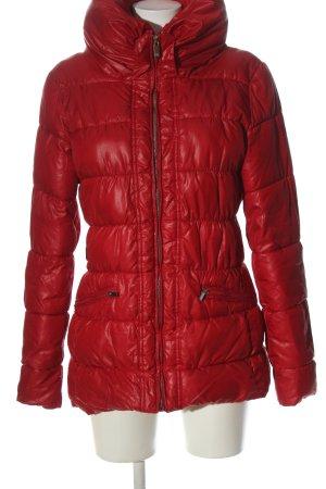 Ann Christine Gewatteerd jack rood quilten patroon casual uitstraling