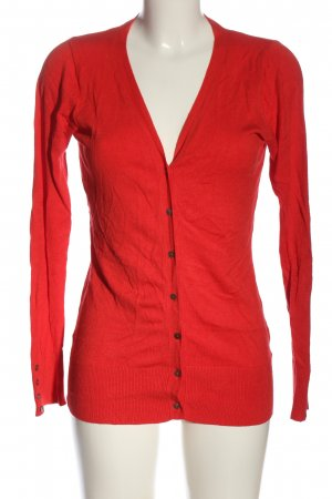 Ann Christine Knitted Cardigan red casual look