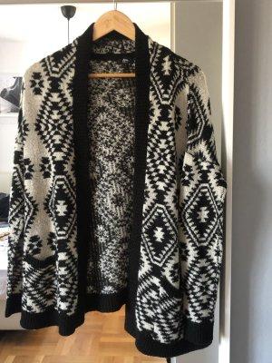 Ann Christine Gilet tricoté blanc-noir