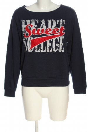 Ann Christine Sweat Shirt printed lettering casual look