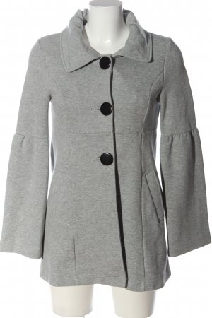 Ann Christine Pea Jacket light grey flecked casual look