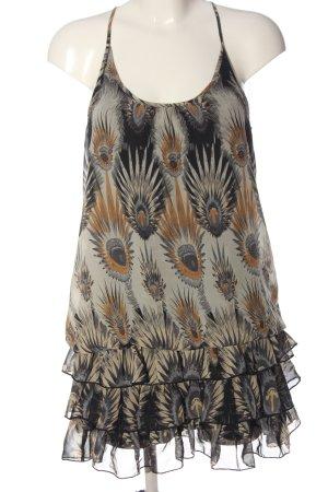 Ann Christine Flounce Dress allover print casual look