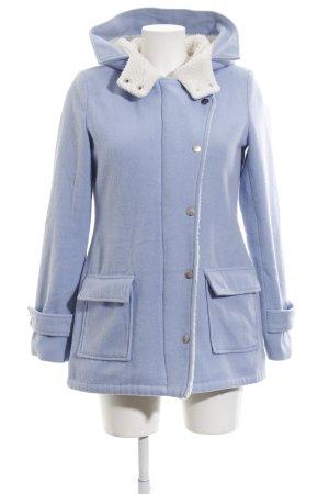 Ann Christine Veste d'hiver bleu-blanc style décontracté