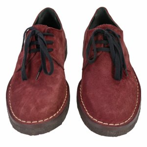 Ann Demeulemeester Lace-up shoes Suede in Bordeaux