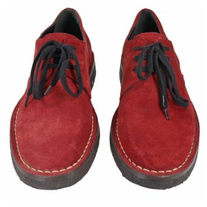Ann Demeulemeester Lace-up shoes Suede in Red
