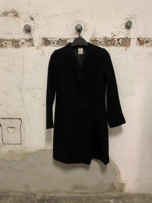Ann Demeulemeester Wełniany płaszcz czarny