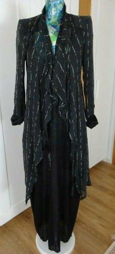 Ann Demeulemeester Runway Jacket Seide 36 asymmetrisch Bänder