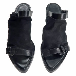 Ann Demeulemeester Sandals Leather in Black