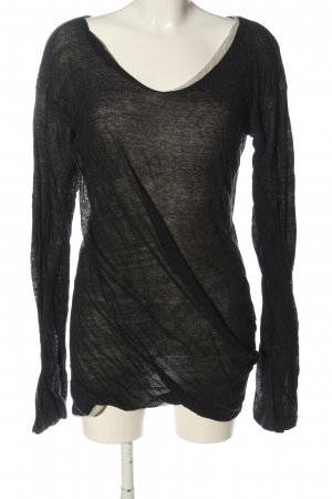 Ann Demeulemeester Knitted Sweater black casual look