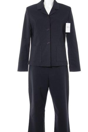 Ann LLewellyn Tailleur-pantalon bleu foncé style d'affaires