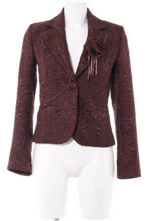 Ann LLewellyn Short Blazer bronze-colored allover print elegant