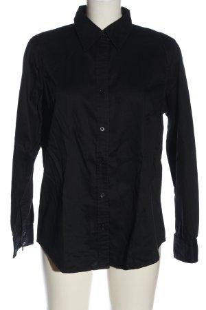 Ann LLewellyn Shirt met lange mouwen zwart zakelijke stijl
