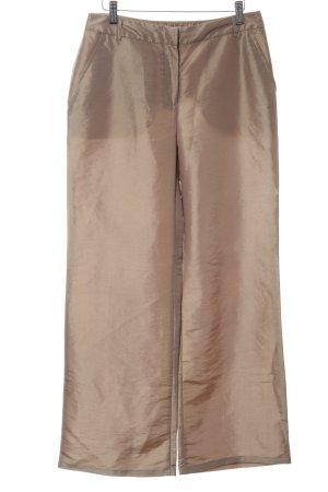 Ann LLewellyn Jersey Pants bronze-colored wet-look