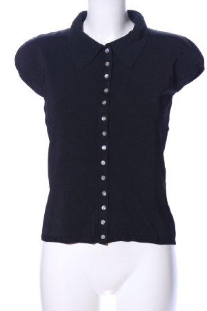 Ann LLewellyn T-shirt zwart casual uitstraling
