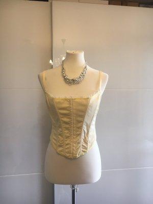 Ann Summers Corsage topje wit-lichtgeel