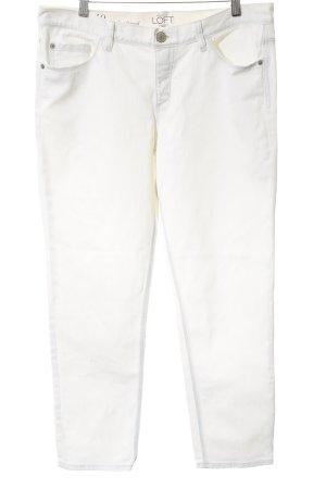 Ann Taylor Jeansy typu boyfriend w kolorze białej wełny-biały Logo z metalu