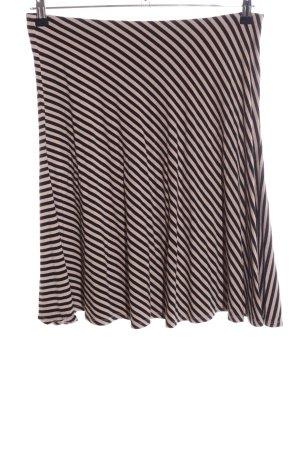 Ann Taylor Faltenrock pink-schwarz Streifenmuster Casual-Look