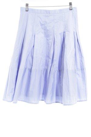 Ann Taylor Falda a cuadros azul celeste look casual