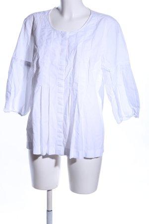 Ann Taylor Kurzarm-Bluse weiß Casual-Look