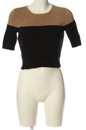 Ann Taylor Pull à manches courtes noir-brun style décontracté