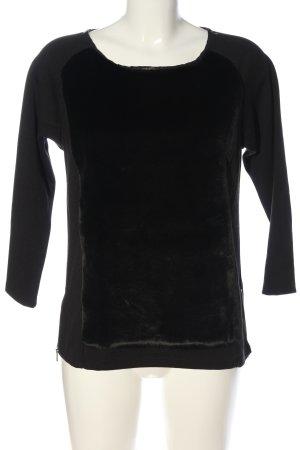 Ann Taylor Bluzka z długim rękawem czarny W stylu casual