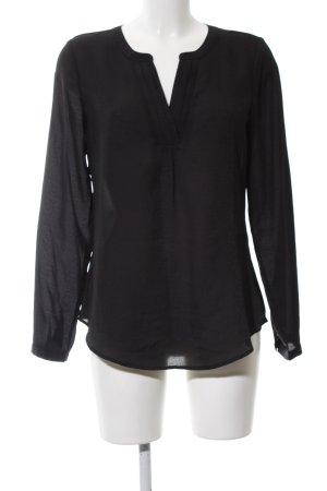Ann Taylor Langarm-Bluse schwarz Elegant