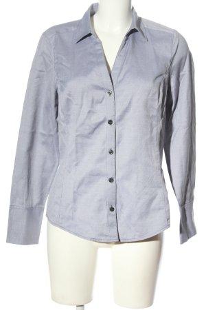 Ann Taylor Chemise à manches longues blanc-bleu motif rayé élégant