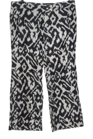 Ann Taylor LOFT Linnen broek wit-zwart volledige print casual uitstraling