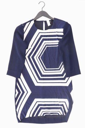 Ann Taylor LOFT Midikleid Größe S geometrisches Muster neuwertig 3/4 Ärmel blau
