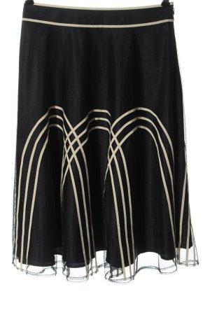 Ann Taylor LOFT Midi-rok zwart-wolwit gestreept patroon casual uitstraling