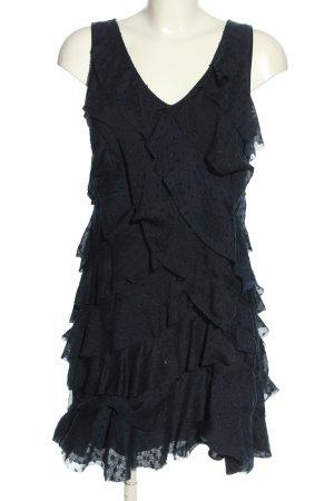 Ann Taylor LOFT Mini-jurk zwart volledige print elegant