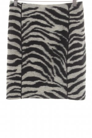 Ann Taylor Miniskirt black-white animal pattern Logo application