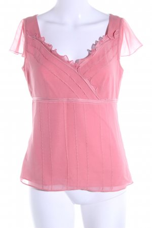 Ann Taylor Frill Top pink elegant