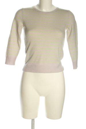 Ann Taylor Rundhalspullover pink-grün Streifenmuster Casual-Look