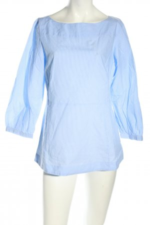 Ann Taylor Slip-over Blouse blue striped pattern casual look