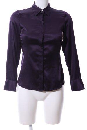 Ann Taylor Zijden blouse lila zakelijke stijl