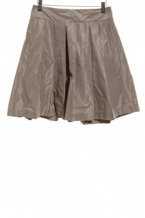 Ann Taylor Skater Skirt beige simple style