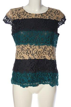 Ann Taylor Koronkowa bluzka Łączone wzory W stylu casual