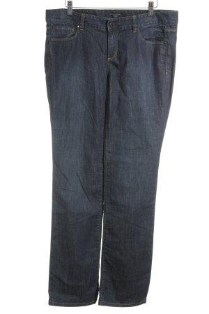 Ann Taylor Jeans coupe-droite bleu foncé-orange style décontracté